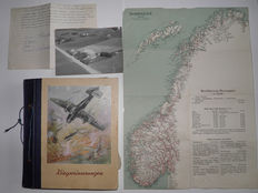 Norway WW2 album - Photo Album Norway occupation, card, letter and postcard. Album with 155 photos. Very rare.