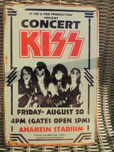 Kiss - Concert  - Anaheim Stadium - Friday 20th August