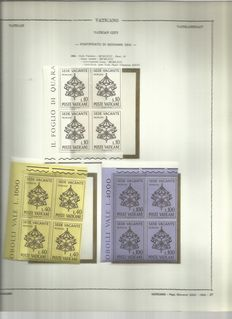 Vatican 1963 – 1975 blocks of four stamps on 84 Euralbo sheets + 1978 1980 on Marini sheets