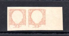 Kingdom of Italy, 1901 – 1 Lira – Test printing – Stamped in brownish-orange rather than green.