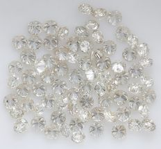 76 Round Brilliant Diamonds – 1.35 ct.
