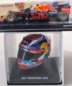 Minichamps - Scale 1/43-1/50 - Red Bull RB 12 GP Spain 2016 and Sparks Helm - Max Verstappen