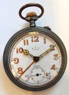 Eterna - military style alarm pocket watch - Heren - 1901-1949