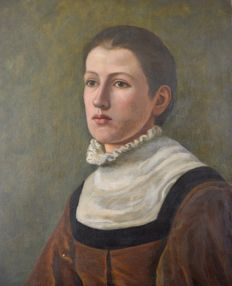 Continental school (19th century) - Portrait of a lady