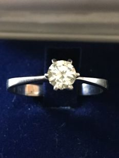 Solitaire with Cisgem certified diamond, 0.40 ct