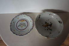 18th century faience plates (1 plate with date 1790)