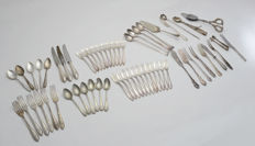 Collection - Art Deco cutlery - parts - silver-plated/ 60 pieces