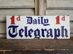 Daily Telegraph enamel sign - ca. 1930