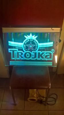 Illuminated advertising - Trojka - late 20th century