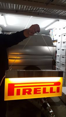 "Original lit ""Pirelli"" sign - 1990s"