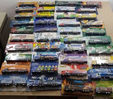 Many brands - scale 1/87 - lot with 79 models: German brewery trucks and advertising trucks