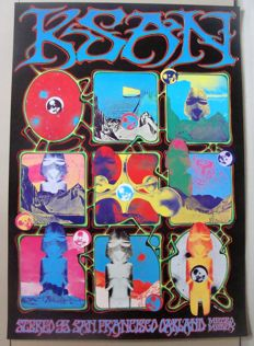 KSAN Stereo 95 Radio Station San Francisco Promo Poster Rick Griffin / Alton Kelley 1969