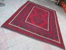 Rare Antique Hard Wearing Tribal Ghalmori Hand Woven Wool Kilim 291 x 209 cm