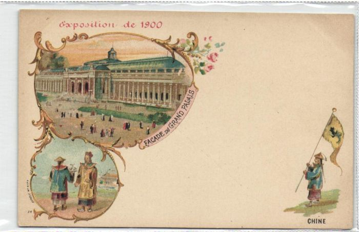 1900 PARIS EXPO 28 x-very lovely Lithographs with flags of the participating countries-c. 1900