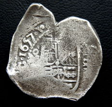 Spain - Philip IV (1621-1665) - 8 reales, year 1657, struck in Mexico - Silver