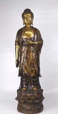 Large bronze statue - Buddha - China - second half  20th century