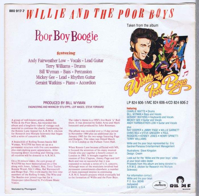 Bill Wyman (of The Rolling Stones) Willie And The Poor Boys