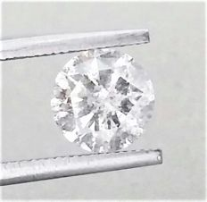 1.24 ct , D color , I1 Clarity , Natural Diamond  , Big IGL certificate+ Laser inscription On Girdle , 3 x EX .