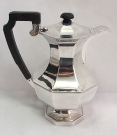 Fine Quality Octagonal Shaped Coffee Pot By A E Poston & Co Ltd Lonsdale Plate 1940's