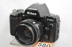 Nice Nikon F-801s camera with Nikkor 50 mm 1.8 lens 1991