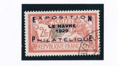 France 1929 - Le Havre Philatelic Exhibition - Yvert 257A.