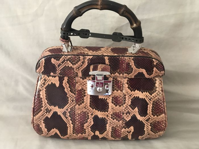 9fe491e93 Gucci - Lady Lock Bag in Python, Large Size - New collection - Catawiki