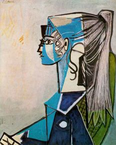 Pablo Picasso (after) - Portrait of Sylvette David in Green Chair