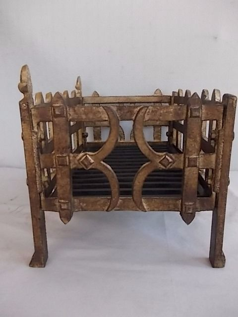 Antique fireplace tools in bronze and cast iron England