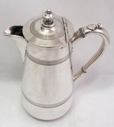 James Dixon & Sons Antique Silver Plated Tall Coffee Pot c. 1850