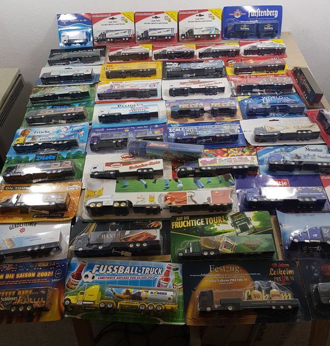 Many brands - scale 1/87 - collection of 45 models: German brewery trucks and advertising trucks/special trucks