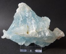 Magnificent specimen of sky blue topaz - 11.6 x 8.5 x 5.5 cm - 475 g