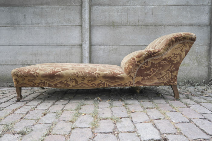 Art deco chaise longue with the original upholstery catawiki for Chaise longue deco