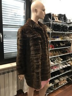 Hand-crafted sable fur coat