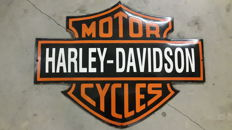 Enamelled porcelain Harley Davidson sign - 1990s