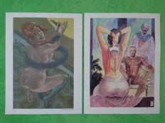 "Manara & Liberatore - 2x prints ""Aphrodite 6"" + ""Bitch with dildo"""