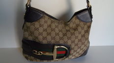 Gucci – Signature GG Canvas Hasler Horsebit Hobo Bag – *No Minimum Price*