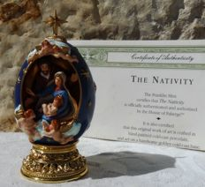 "House of Fabergé - ""The Nativity"" - Collector egg - Numbered - Signed - Certificate of Authenticity"