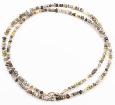 22.40 ct Bracelet or Necklace with multi-color Rough Diamonds