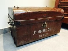 English industrial metal chest, England, 1930s