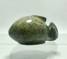 Douglas Govan - Abstract Sculpture of a WHALE - Green Granite