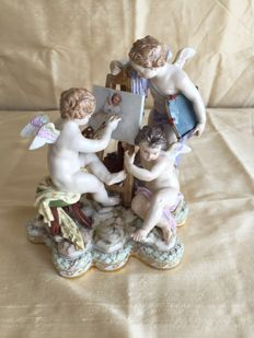 Meissen - Porcelain Figurine Allegory of Painting