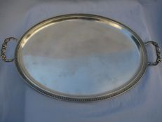 Tray in Silver 800 with handles - 1949/1970 - Vicenza, Italy 543 grams