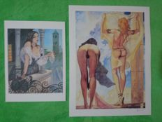 "Manara, Milo - 2x prints Graphic art ""Aphrodite 3 & Castellana"""