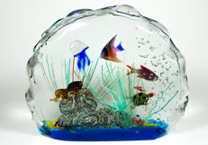 Berto Livotto (Murano) - Aquarium sculpture