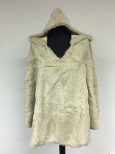 Haute Hoodie – Rabbit Fur Poncho – never worn