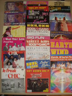 "Nice 7"" Vinyl Single Collection from The 3 Greatest Funk Bands Ever: Chic // Kool & The Gang // Earth, Wind & Fire"