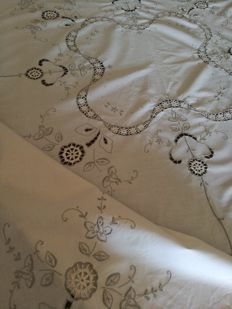 Hand embroidered tablecloth - Italy.