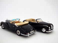 Maisto - Scale 1/18 - Lot with 2 models: 1955 Mercedes-Benz 300 S Convertible and 1955 BMW 502 Baur Cabriolet