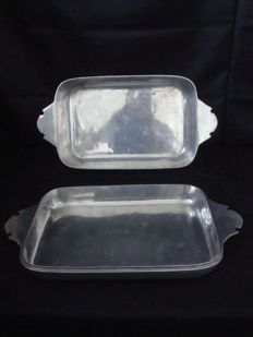 2 Owen Tray - Made of Special Metal - Top Manufacturer - Forbes - Portugal 1960