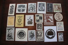 Ex-libris; Small collection of 74 medical ex-libris, various techniques and artists - c. 1900 / 1960